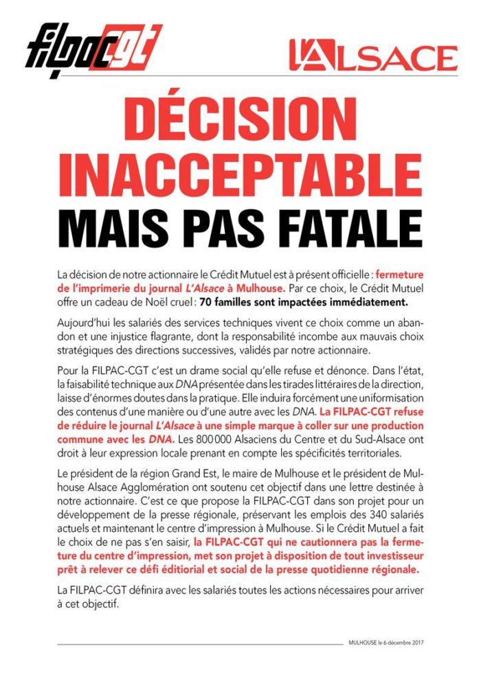 fermeture imprimerie du journal L'alsace ? inacceptable... dans CGT UPM Chapelle Darblay alsace6dec17-700x989