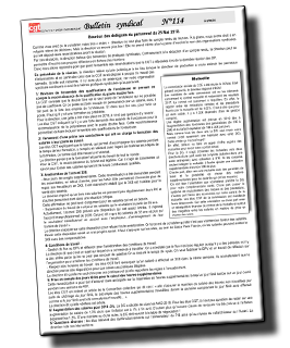 .    FILPAC C.G.T SAICA PACK BEAULAC Bulletin syndical N°114