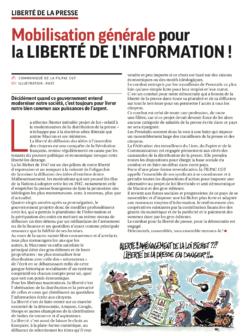 Mobilisation générale pour la liberté de l'Information ! dans CGT UPM Chapelle Darblay CommuniqueLoiBichetFilpac15avril19-250x336