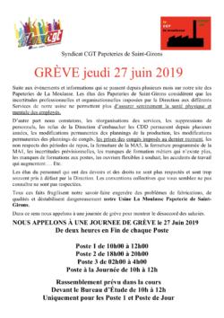 Papeterie Saint-Girons dans CGT UPM Chapelle Darblay papetStGiron26juin19-250x354